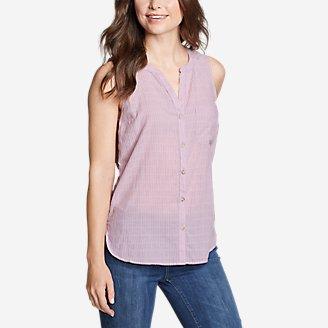 Thumbnail View 1 - Women's Packable Sleeveless Shirt - Boyfriend