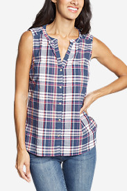Women's Packable Sleeveless Shirt - Boyfriend