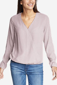 Women's Thistle Long-Sleeve Wrap Top - Solid
