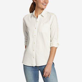 Thumbnail View 1 - Women's Vintage Denim Shirt - Release Hem