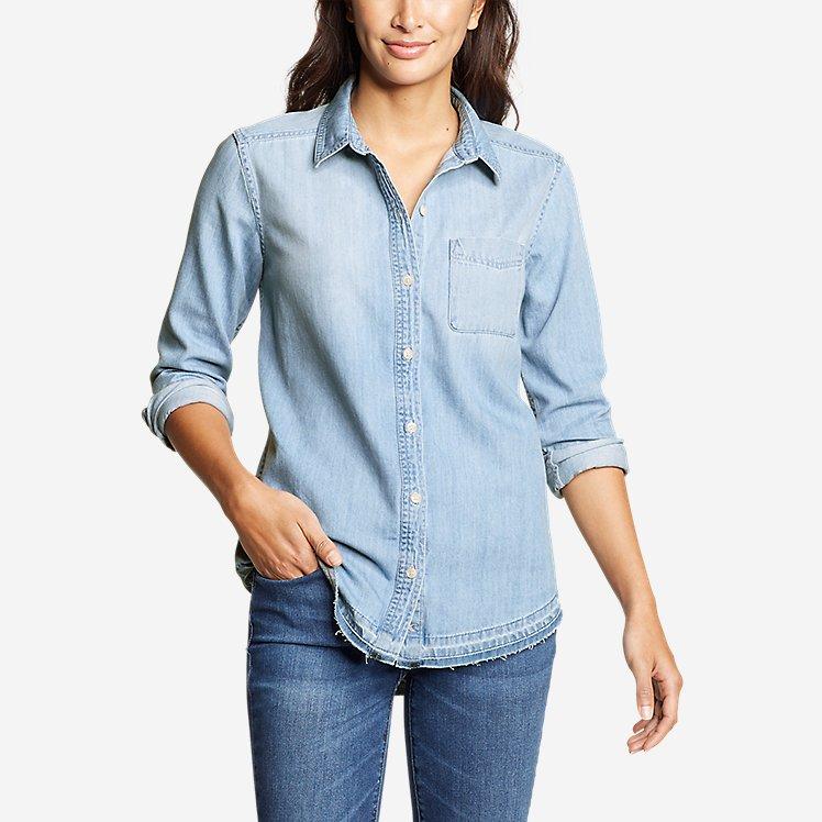 Women's Vintage Denim Shirt - Release Hem large version