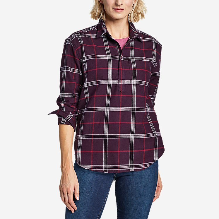 Women's Stine's Favorite Flannel Popover Shirt large version