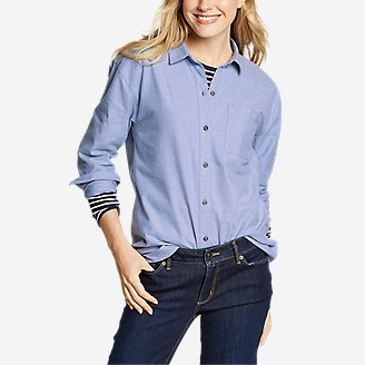 Thumbnail View 1 - Women's Stine's Favorite Flannel Boyfriend Shirt - Solid