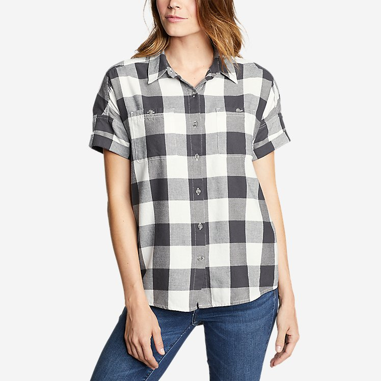 Women's Wild River Flannel Short-Sleeve Shirt large version