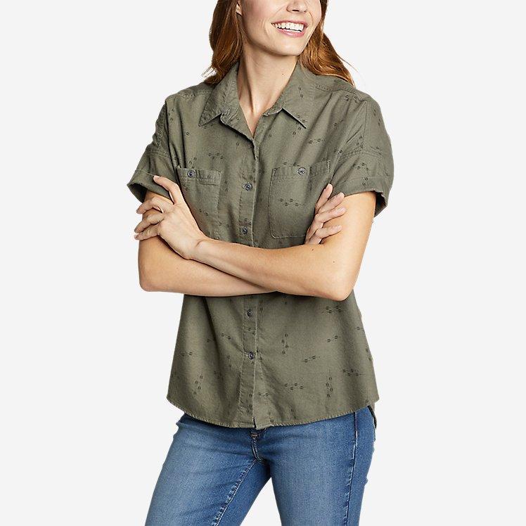 Women's Wild River Flannel Short-Sleeve Shirt large version
