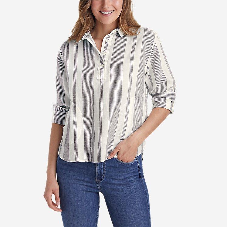 Women's Beach Light Linen Shirt large version