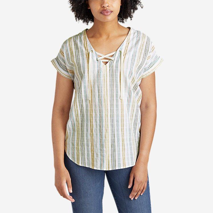Women's Packable Lace-Up Top large version