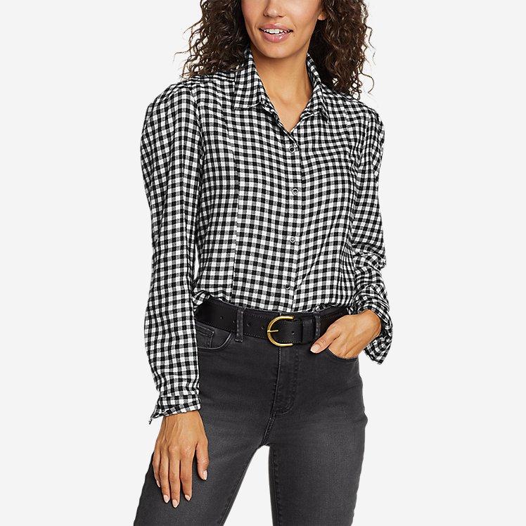 Women's Fremont Flannel Puff-Sleeve Shirt large version