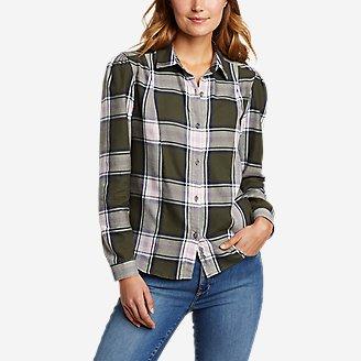 Thumbnail View 1 - Women's Fremont Flannel Puff-Sleeve Shirt