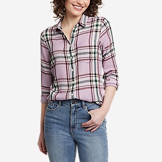 Thumbnail View 1 - Women's Tranquil One-Pocket Long-Sleeve Shirt - Yarn-Dyed