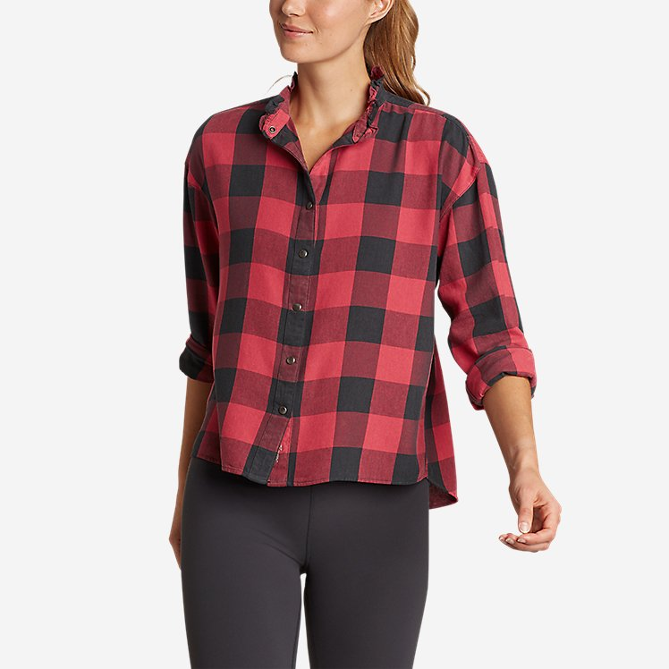 Women's Fremont Flannel Ruffle-Neck Shirt large version