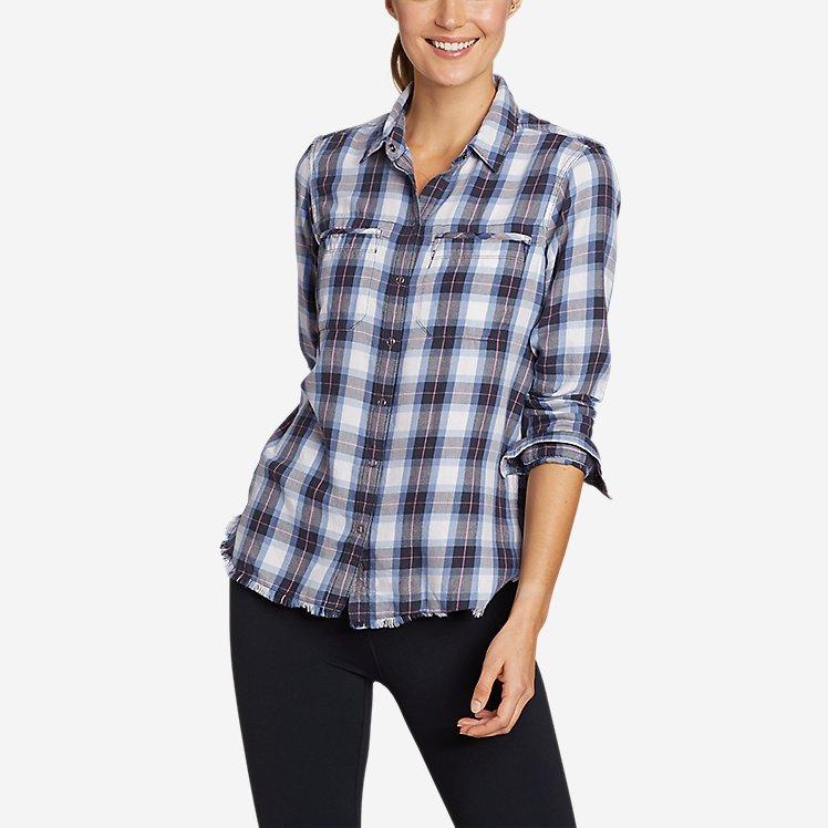 Women's Fremont Flannel Frayed Hem Shirt large version