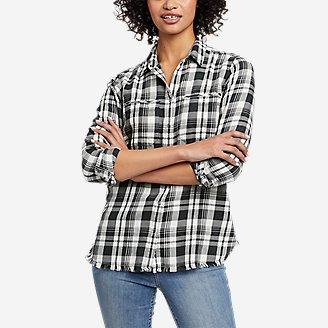Thumbnail View 1 - Women's Fremont Flannel Frayed Hem Shirt