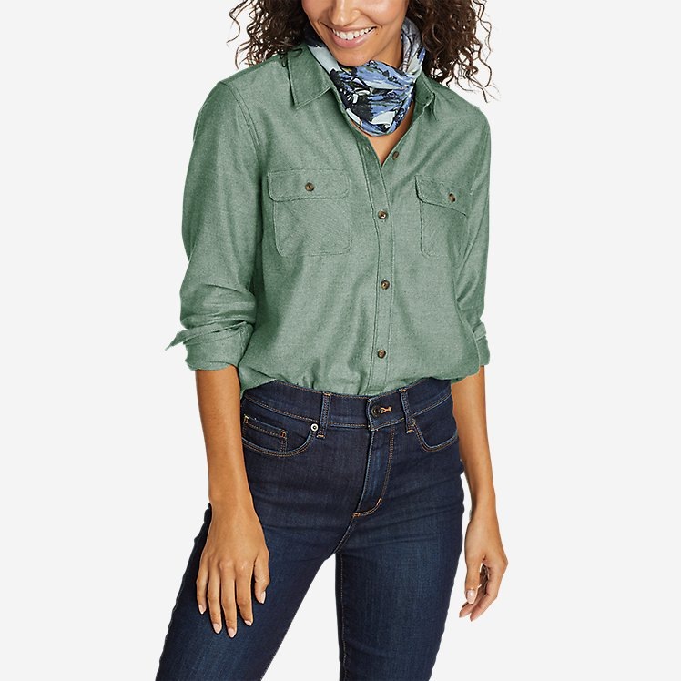 Women's Firelight Flannel Shirt - Solid large version
