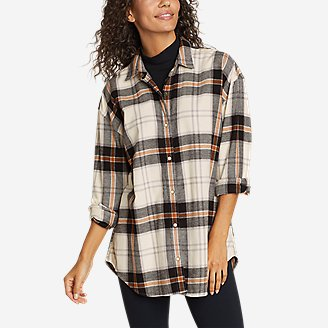 Thumbnail View 1 - Women's Fremont Flannel Snap-Front Tunic