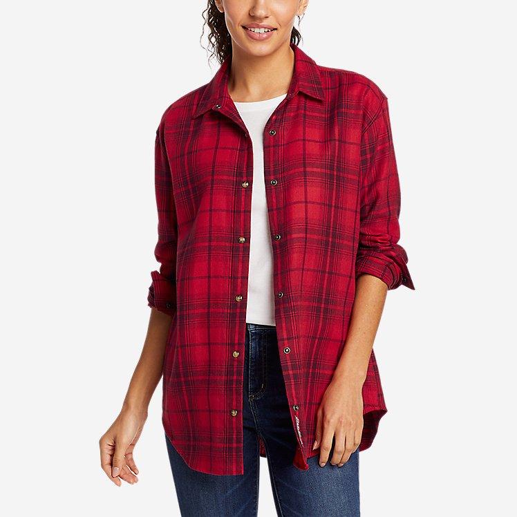 Women's Fremont Flannel Snap-Front Tunic large version