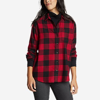 Thumbnail View 1 - Women's Firelight Flannel Shirt - Boyfriend