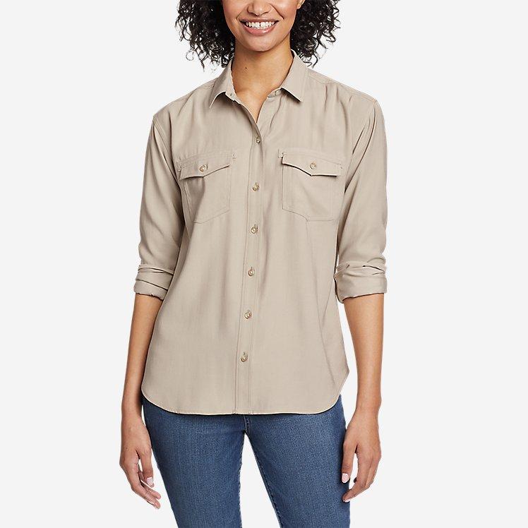Women's Tranquil Sandwash Long-Sleeve Shirt large version
