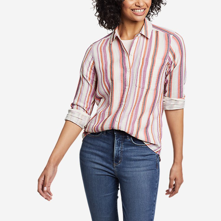 Women's Carry-On Long-Sleeve Button-Down Shirt large version