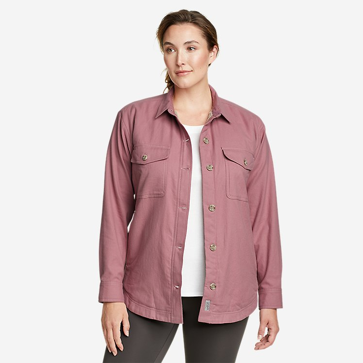Women's Eddie's Faux Shearling-Lined Shirt Jacket large version