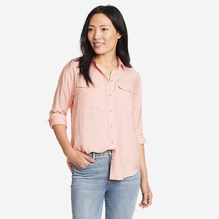 Women's Tranquil Sandwashed Herringbone Shirt large version