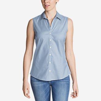 Thumbnail View 1 - Women's Wrinkle-Free Sleeveless Shirt - Solid