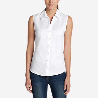 Thumbnail View 1 - Women's Wrinkle-Free Sleeveless Shirt - Solid