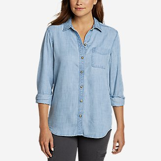 Thumbnail View 1 - Women's Tranquil Boyfriend Shirt - Solid