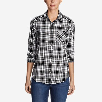 Thumbnail View 1 - Women's Tranquil Boyfriend Shirt - Plaid