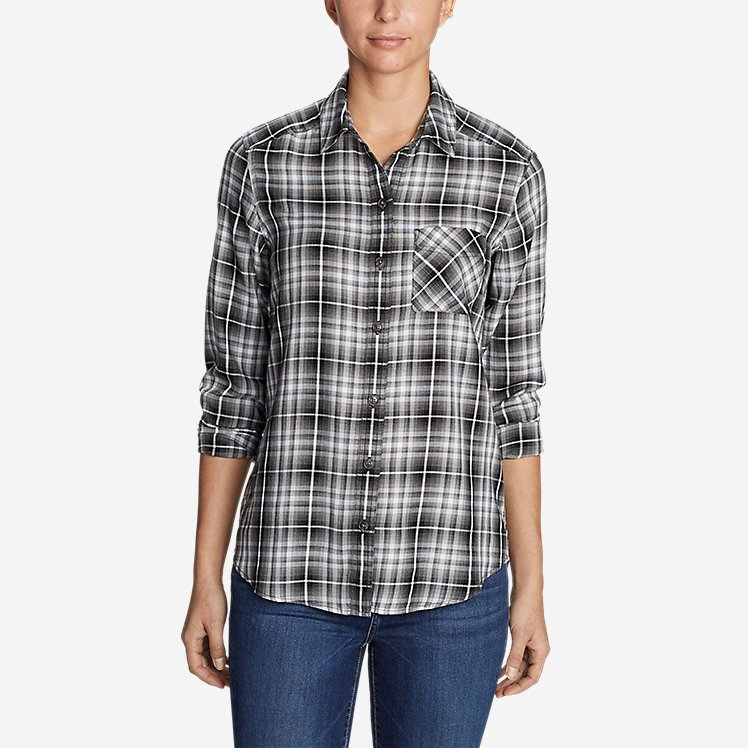 Women's Tranquil Boyfriend Shirt - Plaid large version