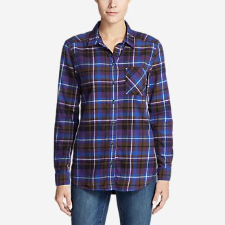 Thumbnail View 1 - Women's Stine's Favorite Flannel Shirt - Boyfriend