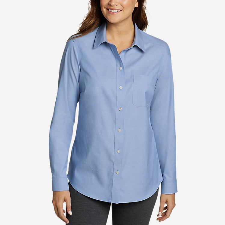 Women's Wrinkle-Free Boyfriend Long-Sleeve Shirt large version