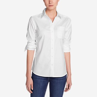 Thumbnail View 1 - Women's Wrinkle-Free Boyfriend Long-Sleeve Shirt