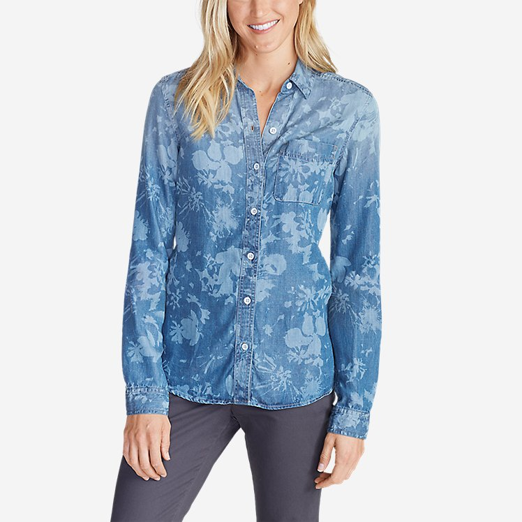 Women's Tranquil Boyfriend Shirt - Print large version