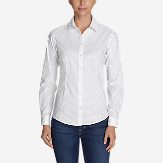 Thumbnail View 1 - Women's Wrinkle-Free Long-Sleeve Shirt - Print