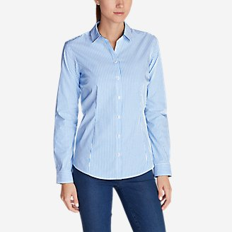 Thumbnail View 1 - Women's Wrinkle-Free Long-Sleeve Shirt - Print