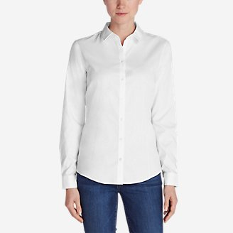 Thumbnail View 1 - Women's Wrinkle-Free Long-Sleeve Shirt - Solid