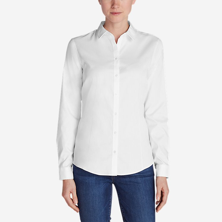 Women's Wrinkle-Free Long-Sleeve Shirt - Solid large version