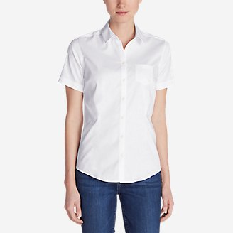 Thumbnail View 1 - Women's Wrinkle-Free Short-Sleeve Shirt - Solid