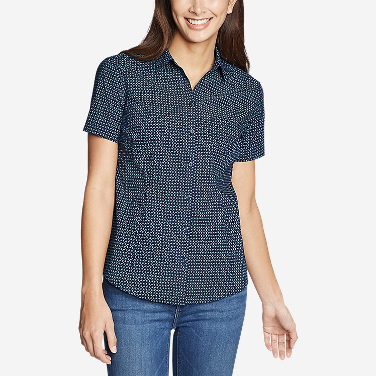Women's Wrinkle-Free Short-Sleeve Shirt - Print large version