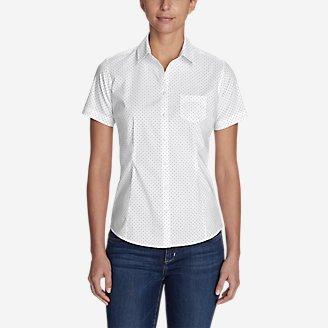 Thumbnail View 1 - Women's Wrinkle-Free Short-Sleeve Shirt - Print