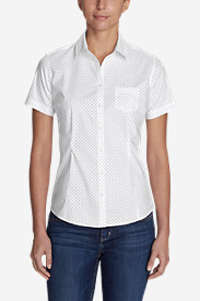 Women's Wrinkle-Free Short-Sleeve Shirt - Print