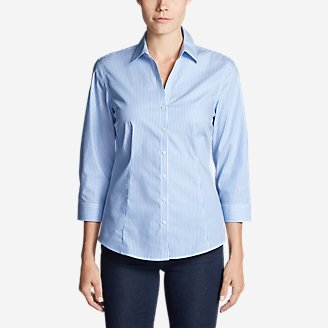 Thumbnail View 1 - Women's Wrinkle-Free 3/4-Sleeve Shirt - Print