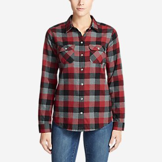 Thumbnail View 1 - Women's Stine's Favorite Flannel Shirt - Plaid