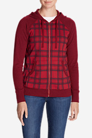 Women's Legend Wash Full-Zip Hoodie - Plaid
