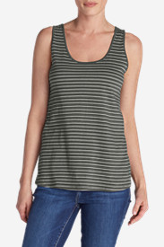 Women's Everyday Jersey Keyhole Tank - Stripe