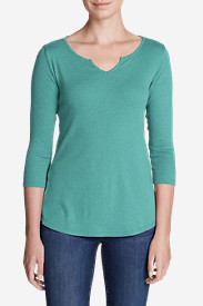 Women's Favorites Notch-Neck 3/4-Sleeve Top