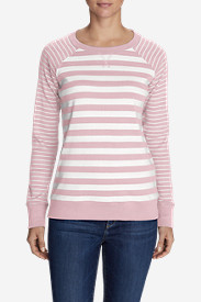 Women's Legend Wash Stripe Blend Crew Sweatshirt