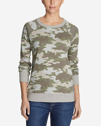 Women's Legend Wash Sweatshirt   Allover Print by Eddie Bauer