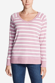 Women's Legend Wash Long-Sleeve V-Neck Sweatshirt - Stripe
